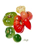Hierloom Tomatoes June issue of Edible Reno-Tahoe